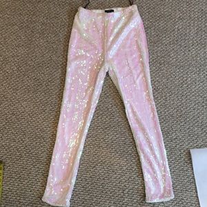 F21 Pretty White Irridescent Lined woteggings